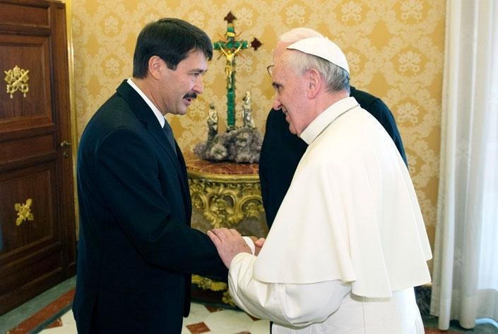 Pope meets with president of Hungary
