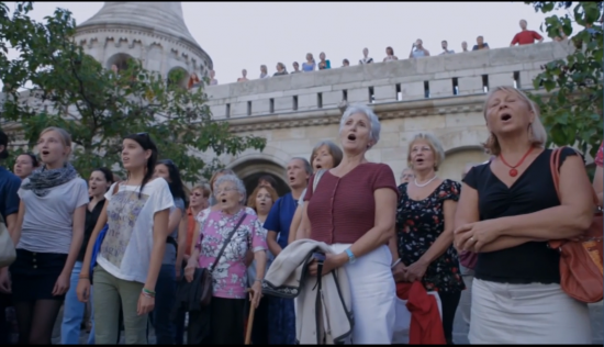 Amazing flash mob in Budapest, Zoltán Kodály Evening song – VIDEO