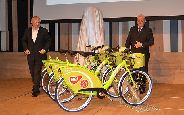 MOL Bubi public bicycle system have been introduced