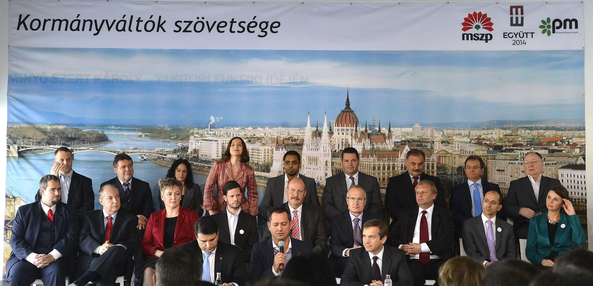 MSZP and E14-PM alliance present election candidates for Budapest