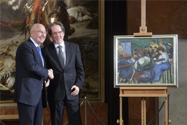 Foreign Ministry gives painting to National Gallery