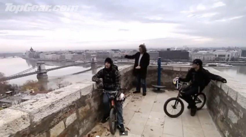 Top Gear's Fiat 500 VS. Hungarian BMX Bandits – VIDEO