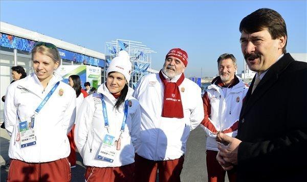 Sochi 2014: President Ader visits Hungary Olympic team