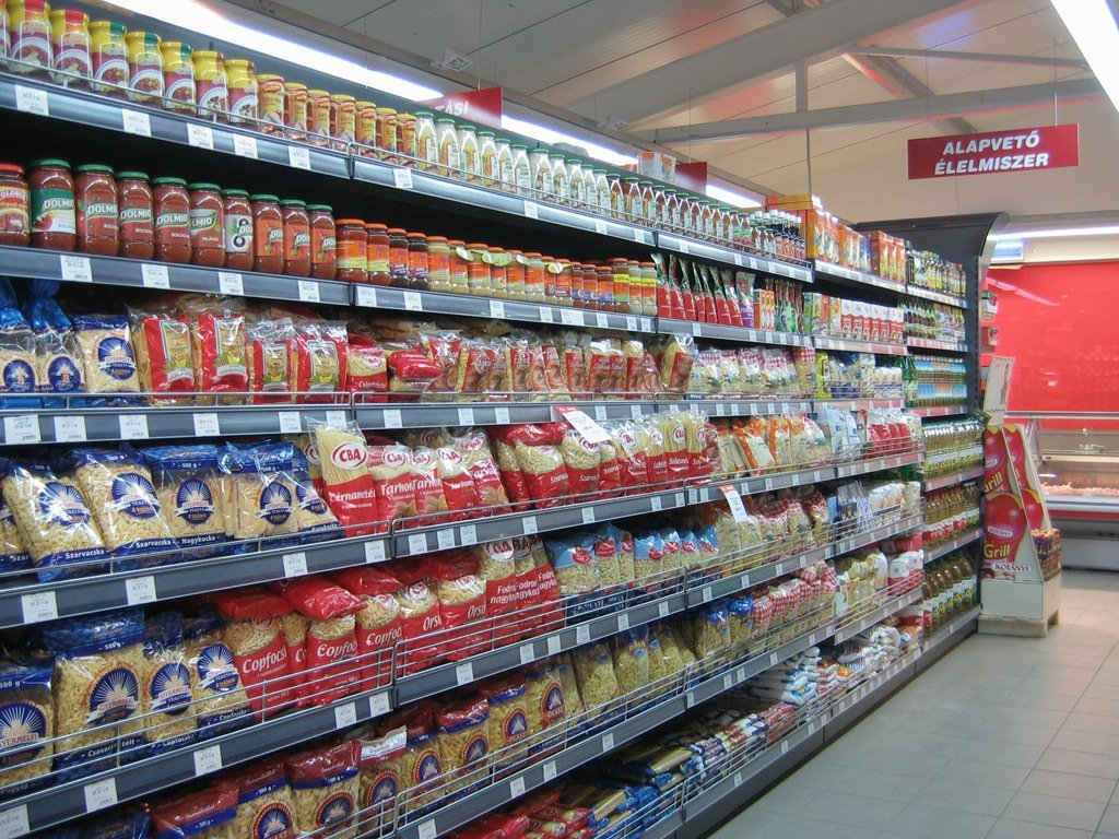 Hungarian Store Shelves Filled With Fake Food