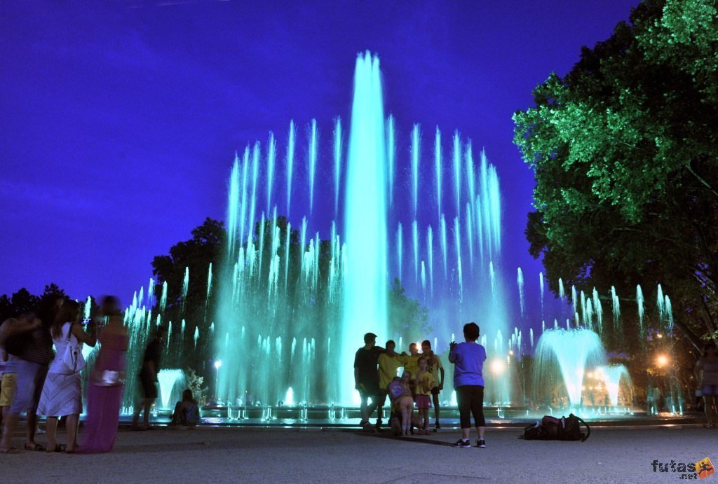 The famous musical fountain of Budapest is available to visit