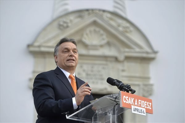 Election 2014 – Orban Rallies Supporters In Gyor