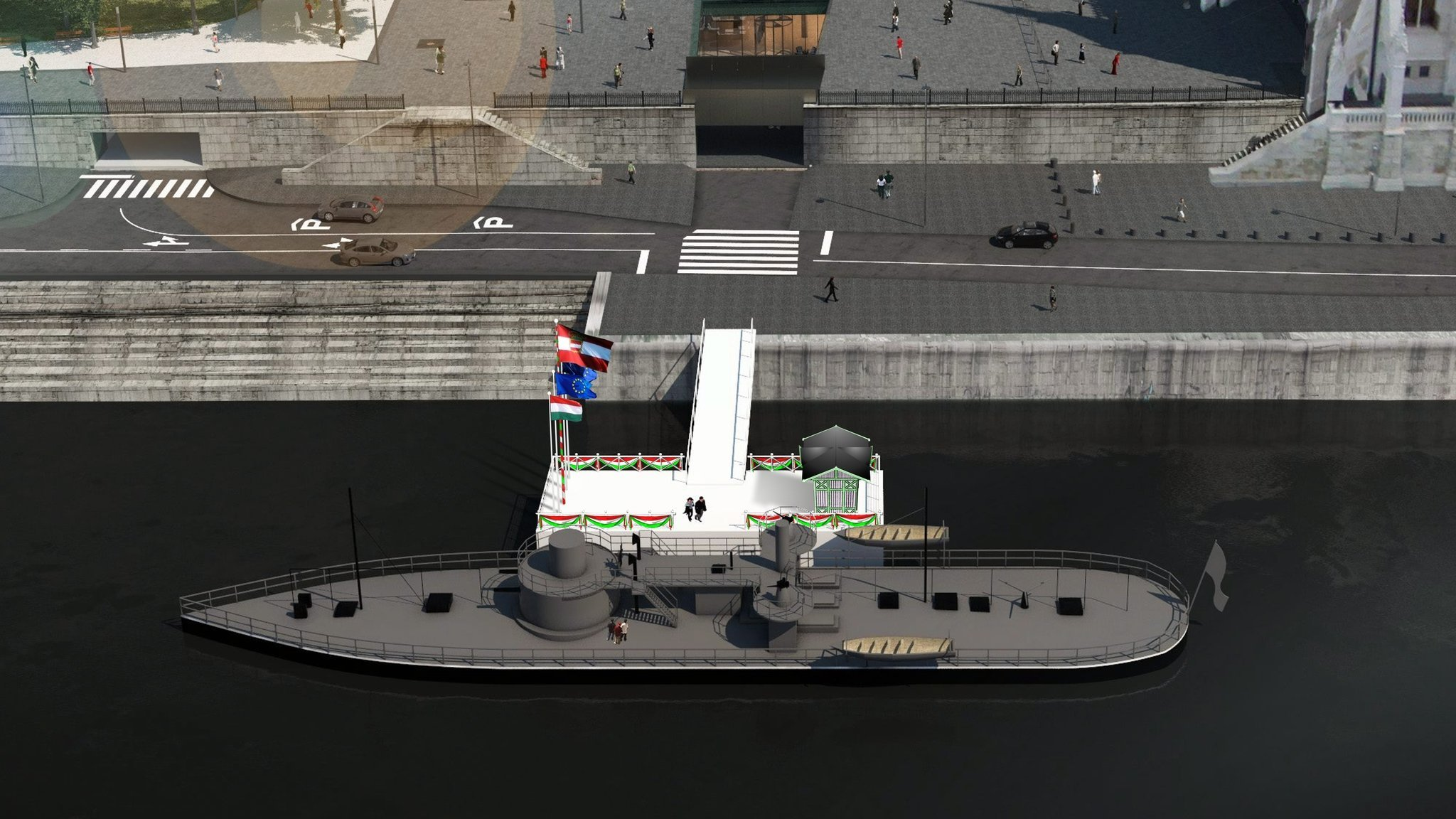 Europe's Oldest River Battleship Inaugurated as Museum at Parliament Pier