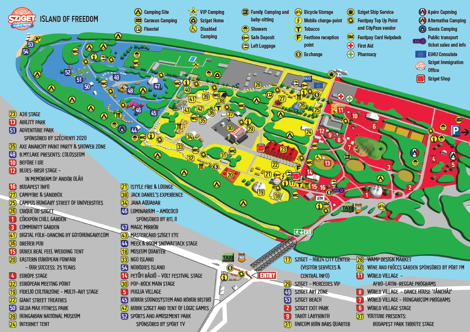 Sziget Festival 2014 Your Interactive Map To The Island