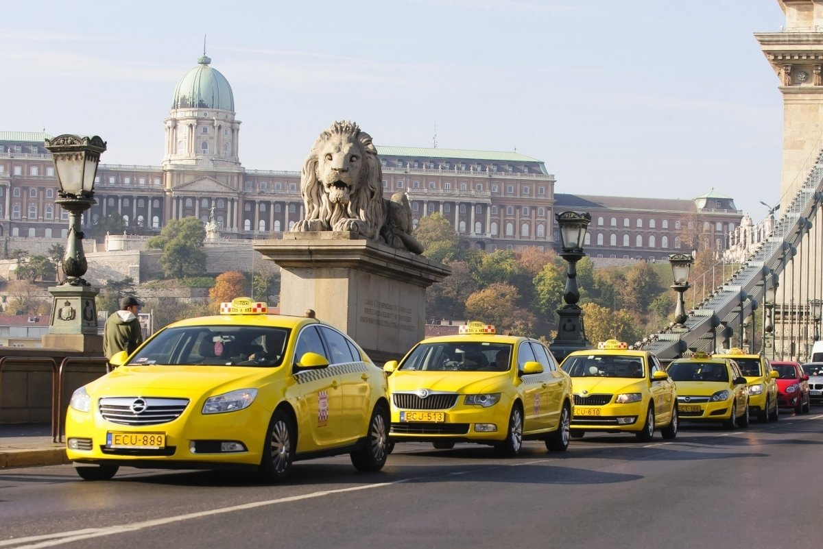 The cost chart of taxi cabs in different cities