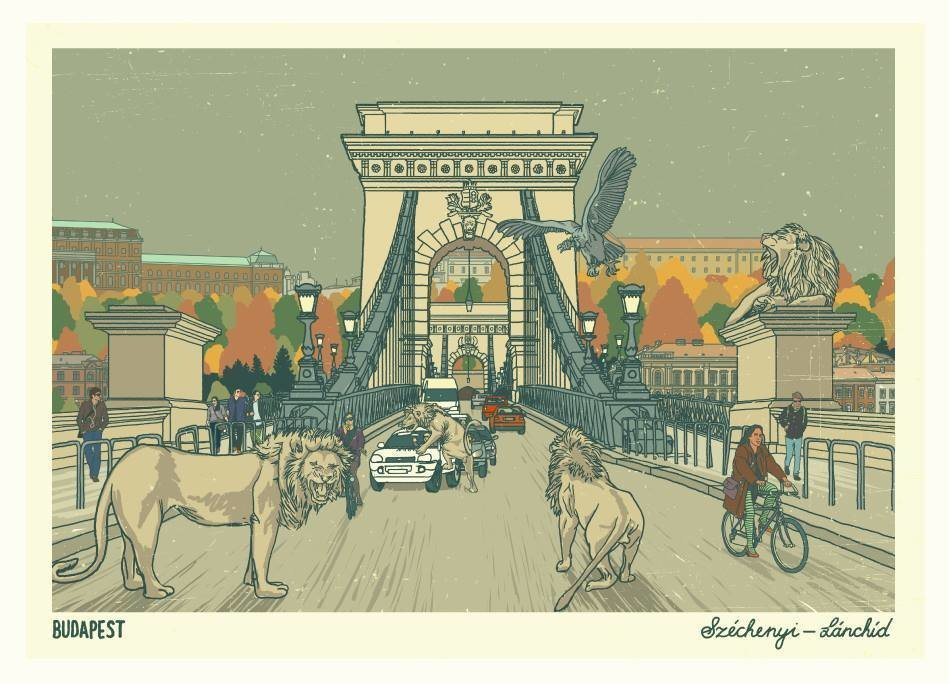 Budapest posters for city dwellers and Budapest fans