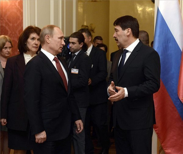 Putin in Budapest – President Ader meets Russian president