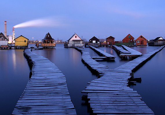 Beautiful floating villages in Hungary