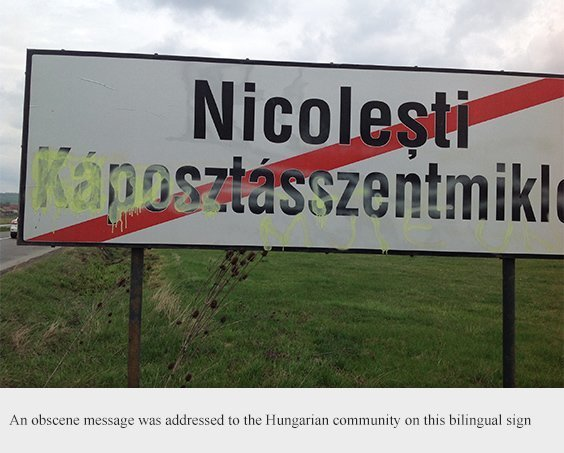 Painting on Hungarian inscriptions has become alarmingly common in Romania