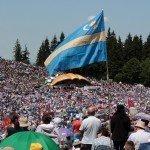 Csíksomlyó Pentecost Szeklerland szekler flag