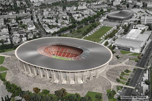 Visualization of the new Ferenc Puskas Stadium