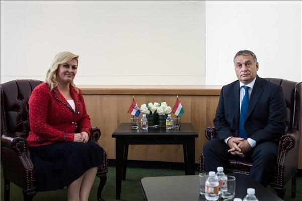 Orban holds talks with Croatian president in NY