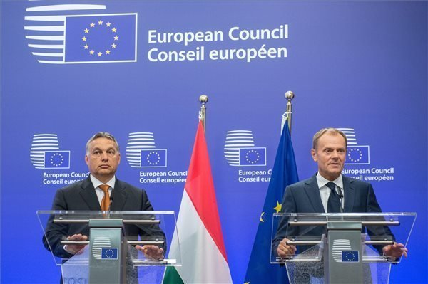 Hungary remains committed to protecting its borders, says Orban in Brussels