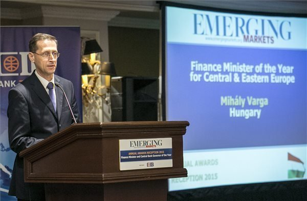 Varga has been selected Finance Minister of the Year