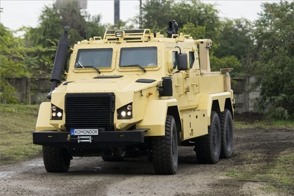 Hungary-developed light-armored combat vehicles have been presented in Budapest