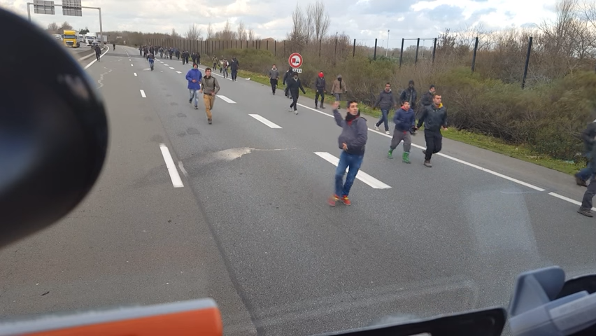 Hungarian truck driver tried to run over refugees