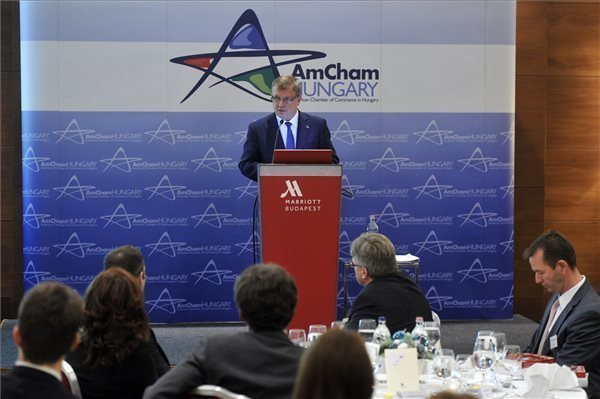 AmCham business forum – Matolcsy highlights importance of higher competitiveness