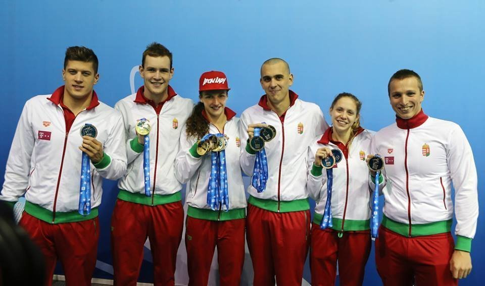 Hungarian swimmers dominated the medal table at the European Short Course Swimming Championships
