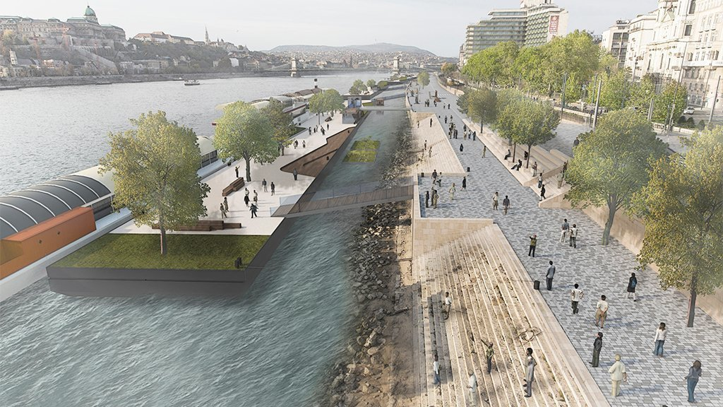 This is how the Pest quay can be transformed