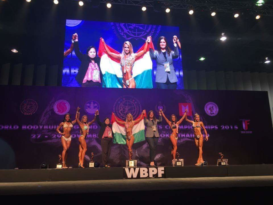 Hungarian girl became the best bodybuilder in the world