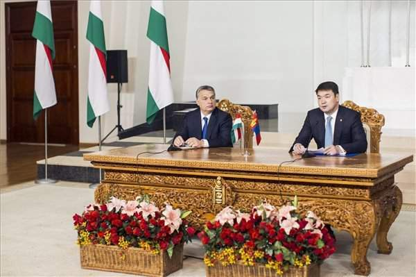 Hungarian, Mongolian governments interested in joint success, says Orbán inUlaanbaatar
