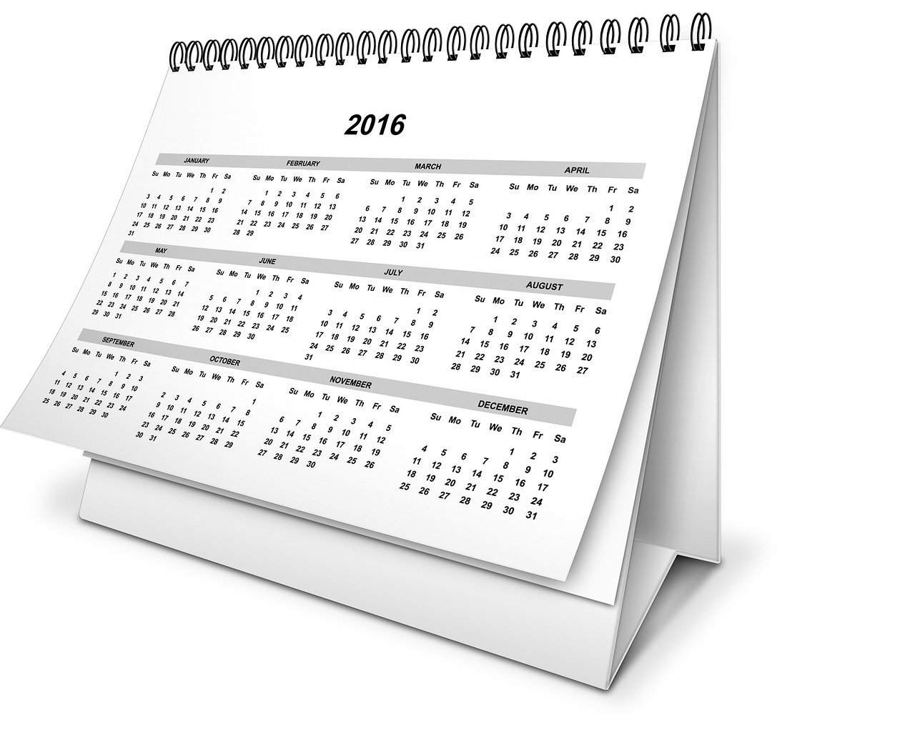 Public holidays in 2016