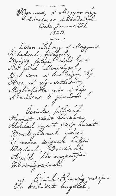 himnusz manuscript