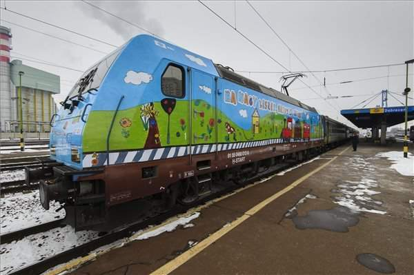 New trains with children's drawings