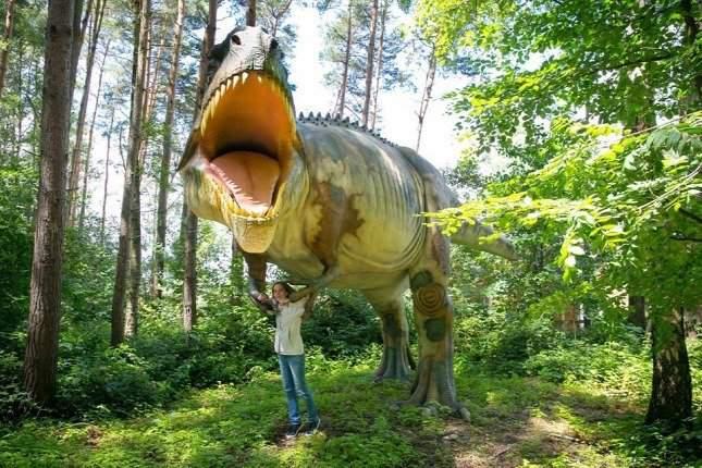 Dinosaurs in the Veszprém zoo