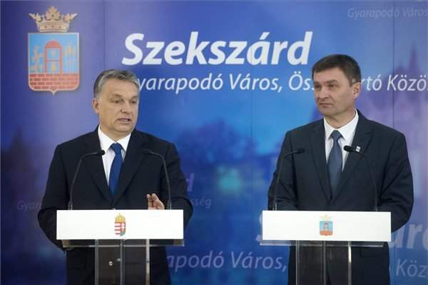 Orbán signs agreement on over EUR 107m development in Szekszárd
