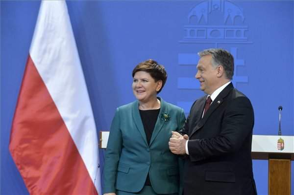 Orbán meets with Polish prime minister Szydlo in Budapest