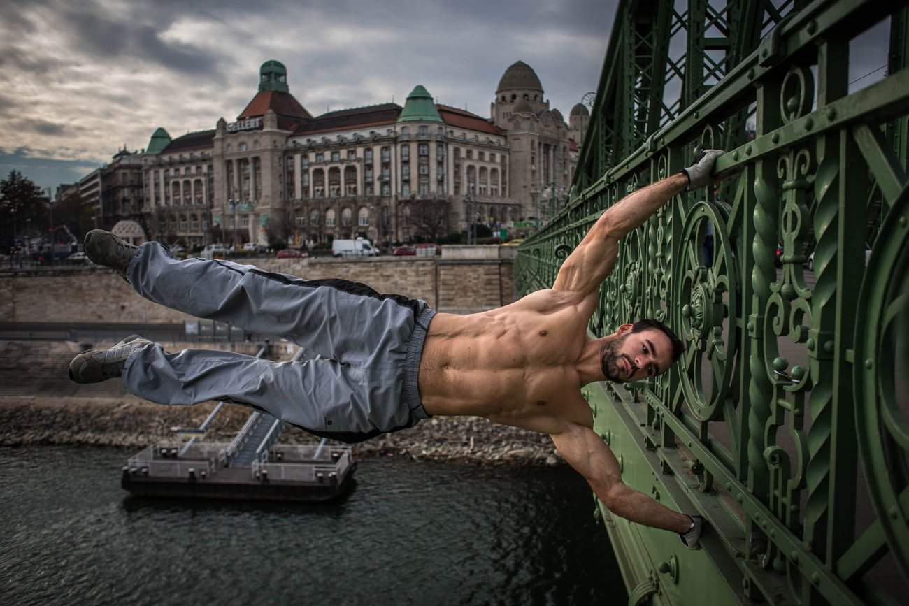 Hungarian Street Workout Athlete Exercises In Breathtaking