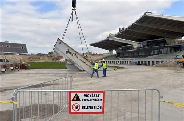 Expansion of Puskás stadium gets under way – Photos