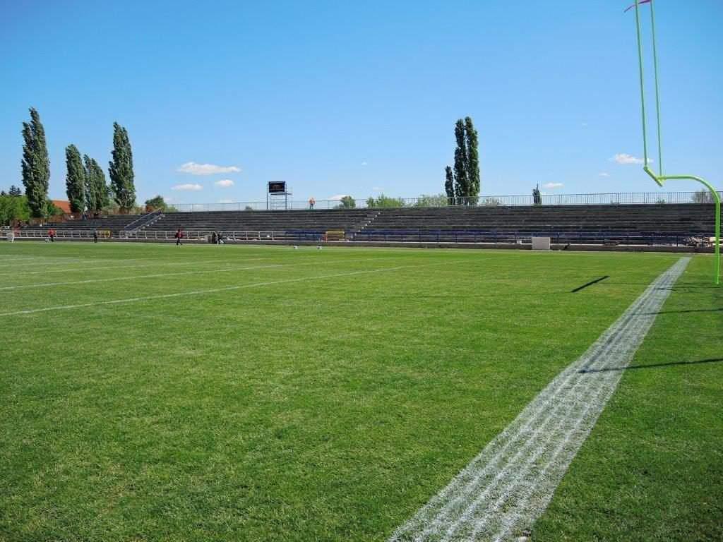 grass american football field. Photo: Szekesfehervar.hu Grass American Football Field