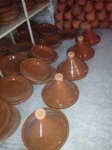 Moroccan clay pots
