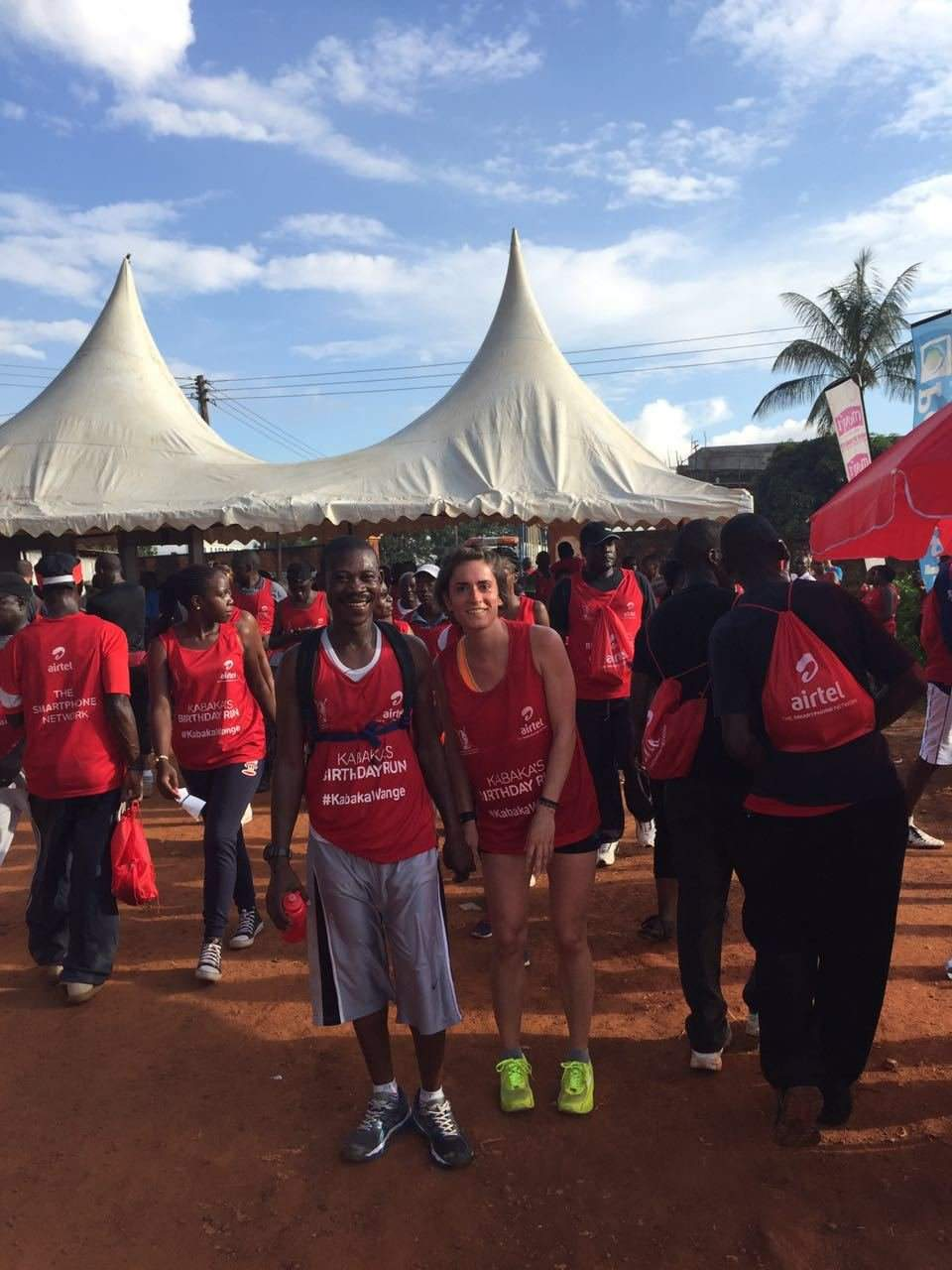 Hungarians took part in the run honouring the King of Buganda