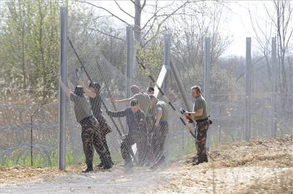 Army starts reinforcing barriers along Hungary-Serbia border