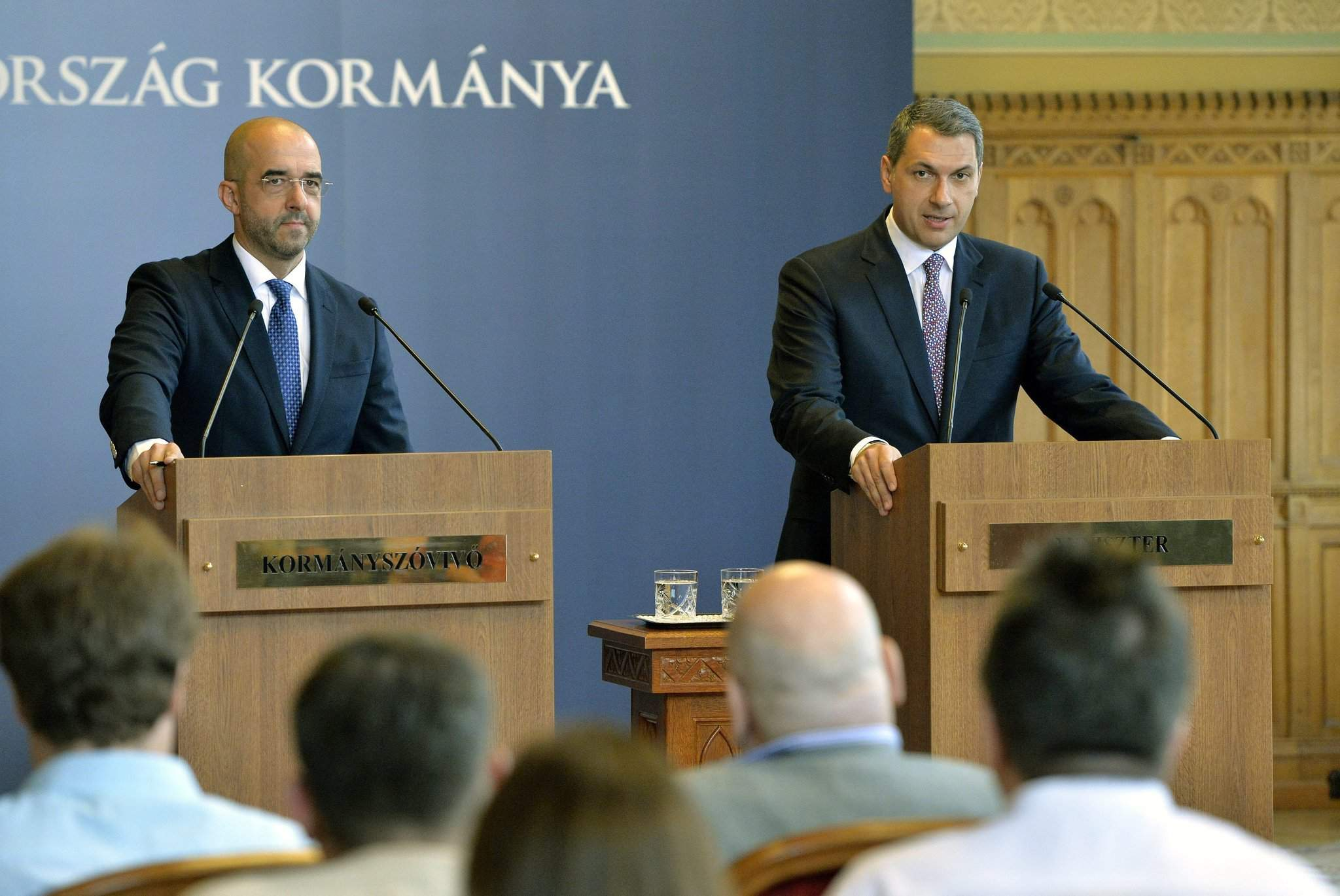 Weekly government press briefing about Budapest's new hospitals, immigration, EU