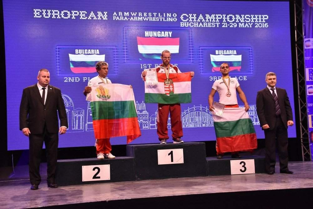 Hungarian success at the European Armwrestling Championship