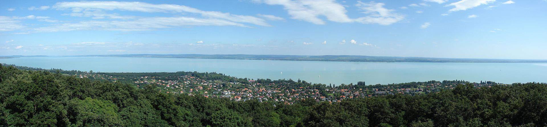 view landscape látvány kilátás Lake Balaton panorama