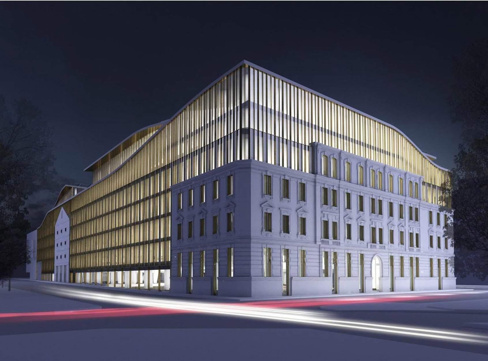 A volt Radetzky-laktanya helyén épül a Bem Palace irodaház