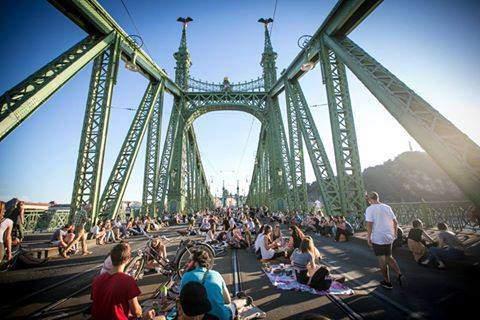 Liberty Bridge is again the picnickers' for four weekends