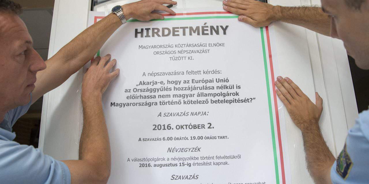 Over 70 pc of Hungarians reject EU's migrant quota – SURVEY