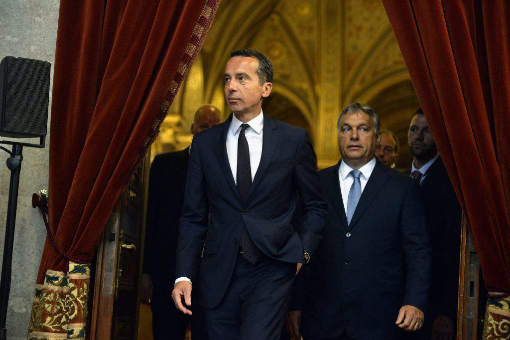 Austrian Chancellor hold talks in Budapest