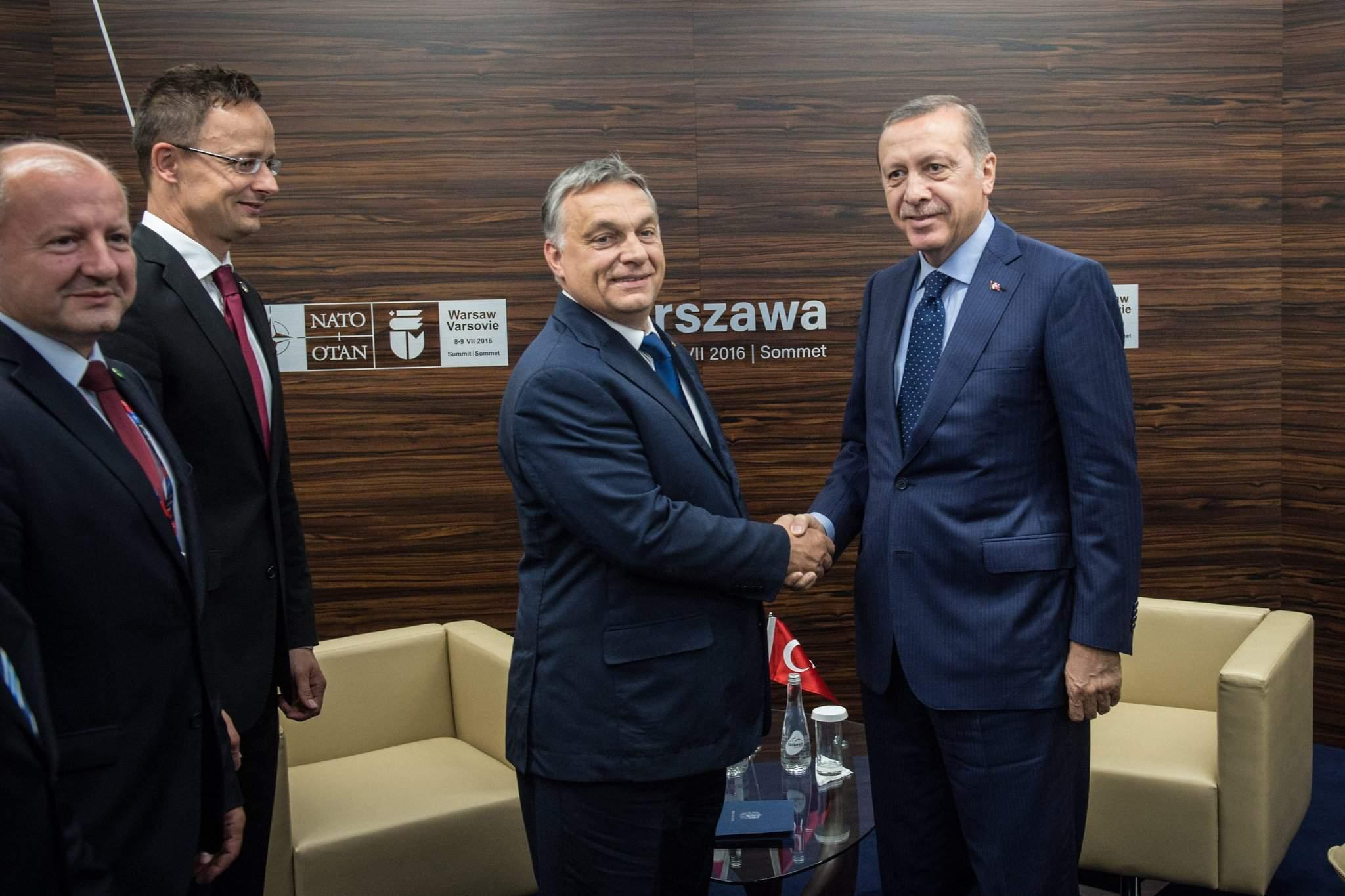 NATO summit – Orbán meets Turkish president on sidelines of Warsaw NATO summit