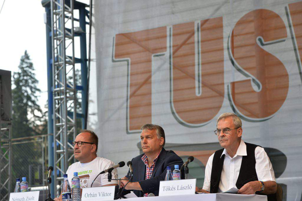 Orbán in Tusnádfürdõ, MTI Photo: Zoltán Máthé